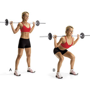 barbell-squat-women